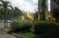 SALVADOR - Funcionários da McDonald's fazem protesto na unidade da avenida ACM