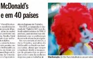 Trabalhadores do McDonald's protestam em SP e em 40 países