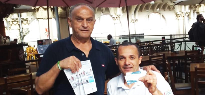 Equipe do Sinthoresp promove ação sindical na base