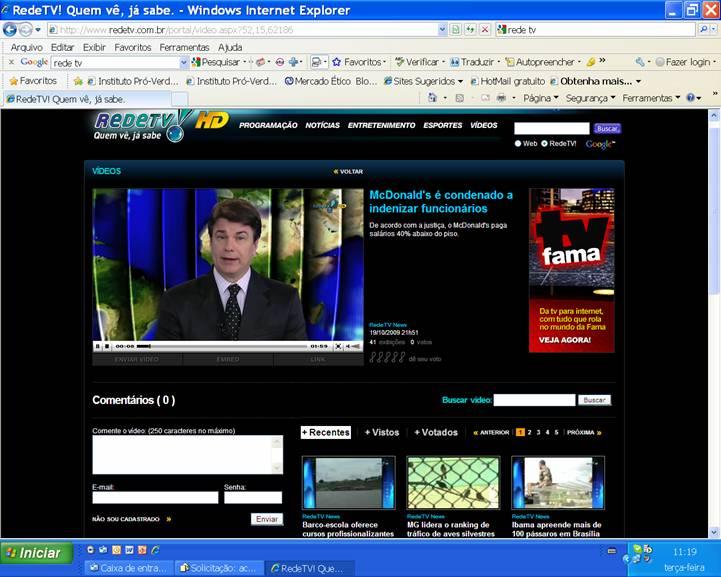 Sinthoresp na Rede TV - MCDonald´s é condenado a indenizar funcionários