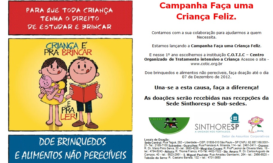 Campanha Faça uma Criança Feliz