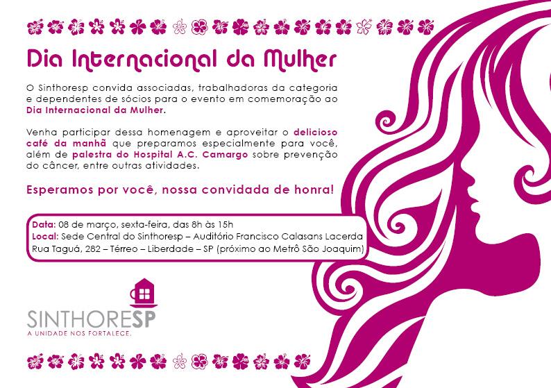 Evento do Dia Internacional da Mulher - 8 de março