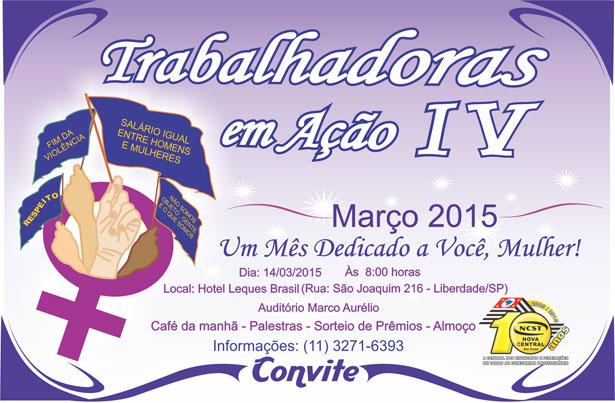 Mês da Mulher - Encontro de comemoração para o dia 08 de março