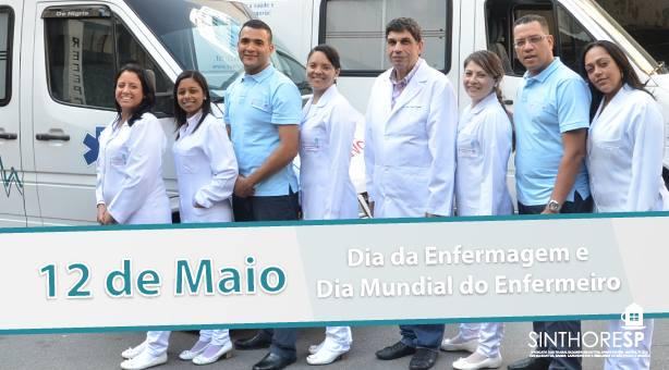 Parabéns aos profissionais de enfermagem
