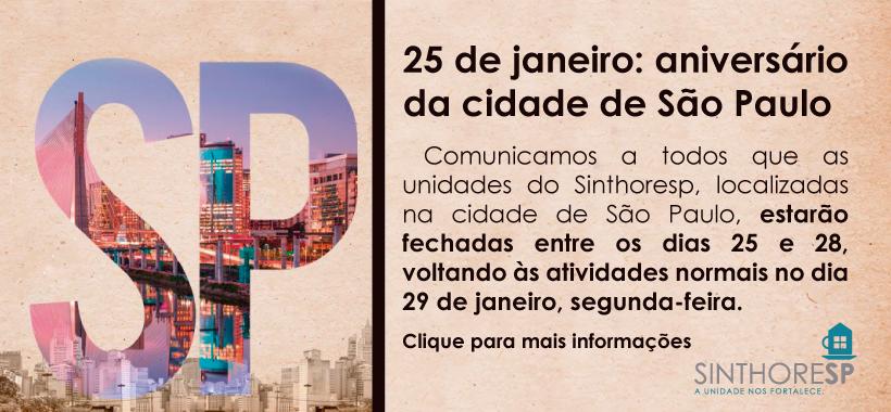 Aniversário da cidade de São Paulo