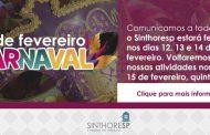 COMUNICADO: fechamento Carnaval