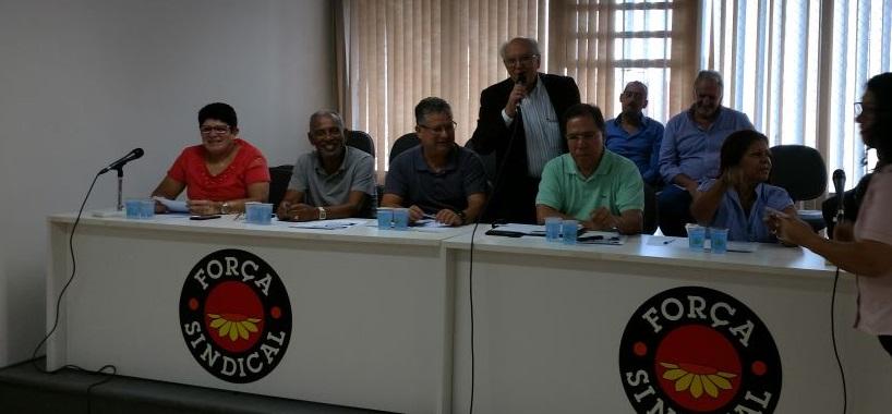 Sinthoresp participa de 1ª reunião oficial na Força Sindical após filiação