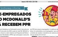 Metrô News divulga acordo de PPR do Sindicato com o McDonald's
