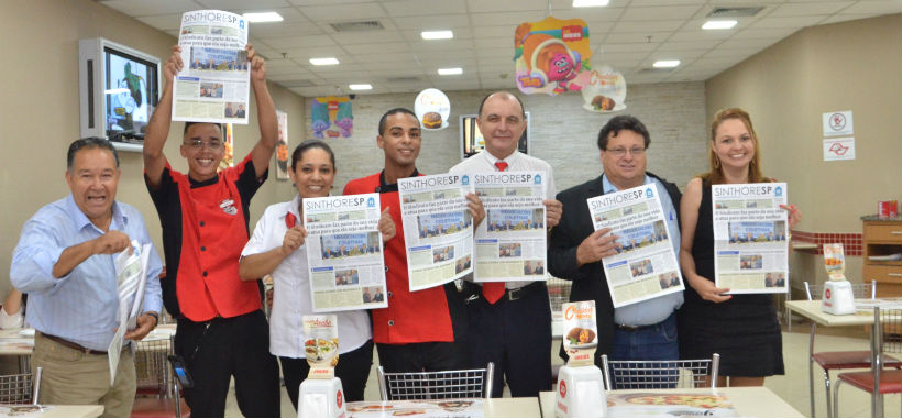 Praças de alimentação de Osasco recebem ação sindical