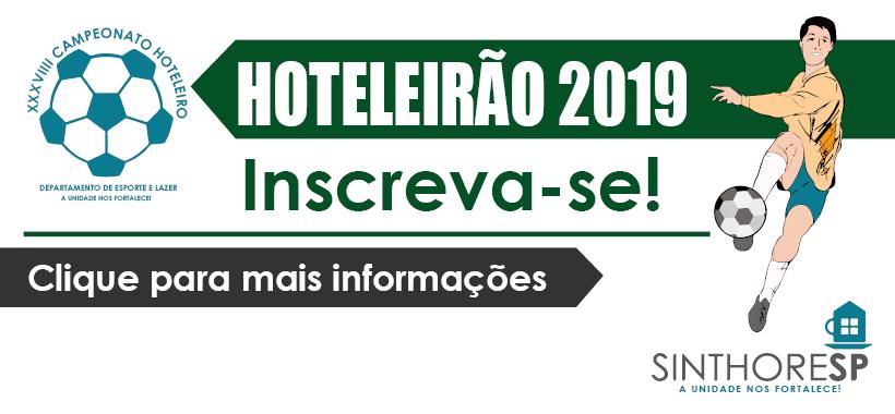 Inscrições para o Hoteleirão 2019 já estão abertas