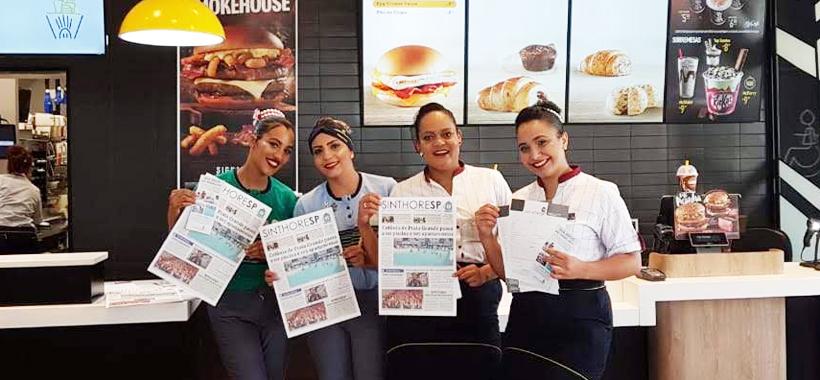 Regional de Guarulhos visita a base e divulga acordo do McDonald's