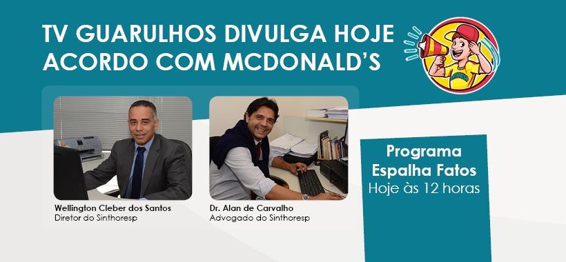 TV Guarulhos divulga nosso acordo com McDonald's. Assista!