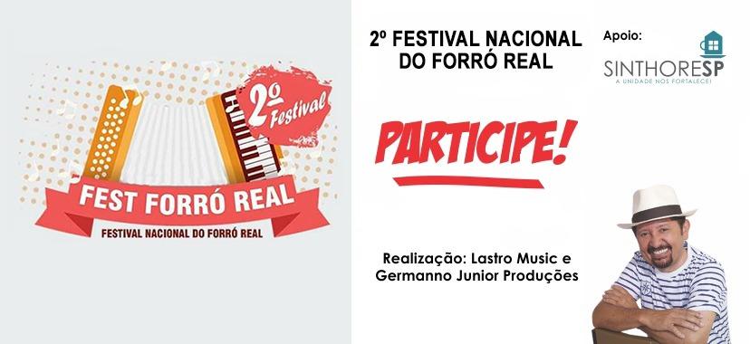 Inscrições para 2º Festival Nacional do Forró estão abertas. Participe!