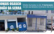 Atenção ao funcionamento das regionais de Osasco e Taboão da Serra!