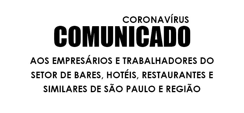 NOTA OFICIAL - Sobre os impactos do coronavírus nas relações de trabalho