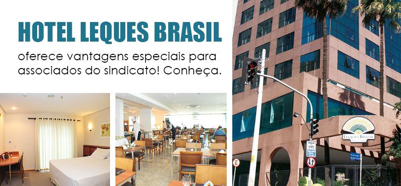 Hotel Leques Brasil oferece vantagens especiais para associados do sindicato! Conheça.