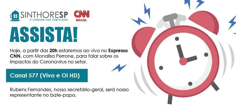 Às 20h, estaremos ao vivo no Expresso CNN! Saiba mais.