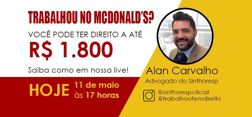 Trabalhou no McDonald's? Você pode ter direito a até R$ 1.800. Entenda!