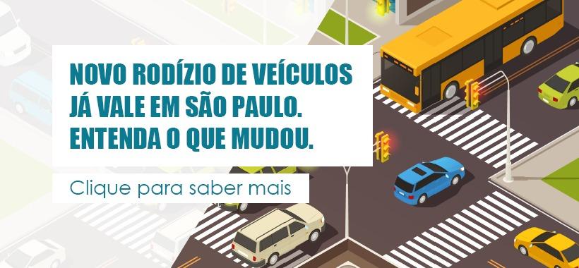 Novo rodízio de veículos já vale em São Paulo. Entenda o que mudou.
