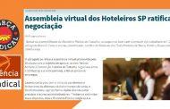 NA MÍDIA - Assembleia virtual dos Hoteleiros SP ratifica negociação