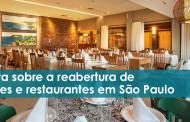 Nota acerca da retomada do setor de bares e restaurantes em SP