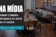 Rubens comenta situação dos garçons, gorjeta e retomada do setor na TV Gazeta
