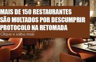 Mais de 150 restaurantes são multados por descumprir protocolo na retomada