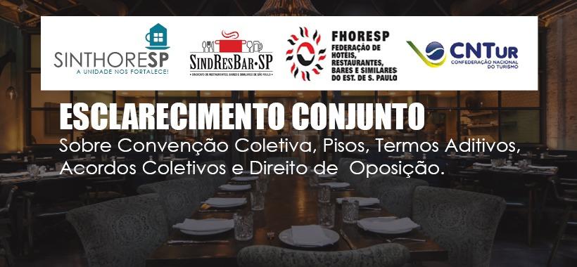 Esclarecimento sobre Convenção Coletiva, Pisos, Termos Aditivos, Acordos Coletivos  Oposição