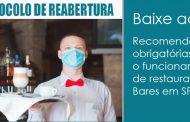 Acesse o protocolo com regras para a reabertura de bares e restaurantes em SP