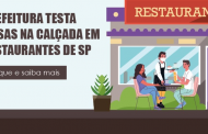 Projeto piloto libera mesas nas calçadas para alguns bares e restaurantes de SP