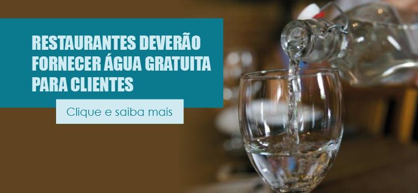 Restaurantes deverão fornecer água gratuita para clientes