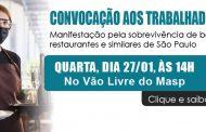 Sinthoresp convoca trabalhadores para manifestação segura pela sobrevivência do setor em São Paulo