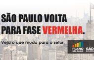 São Paulo volta para fase vermelha e restaurantes podem funcionar com retirada