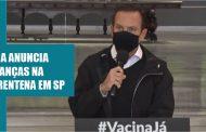 Governador João Doria anuncia mudanças na quarentena a partir deste domingo (1º)