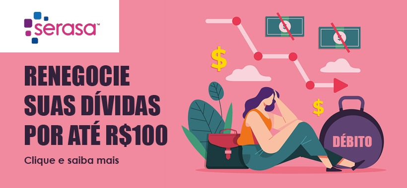"""Campanha """"Limpa Nome"""" renegocia dívidas por até R$100"""