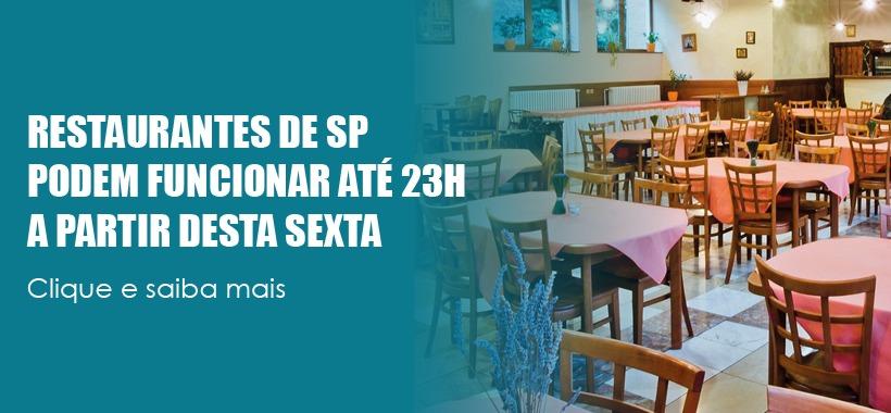 Governo de São Paulo libera funcionamento de bares e restaurantes até às 23h