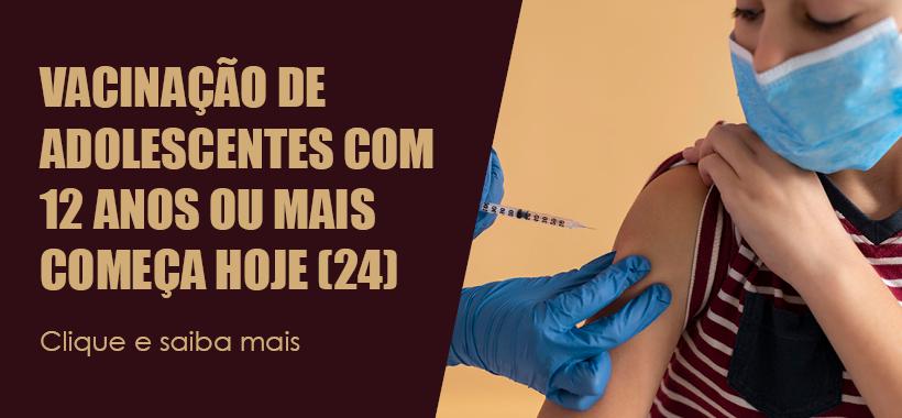 Prefeitura de SP passa a vacinar adolescentes de 12 anos ou mais a partir de hoje (24)