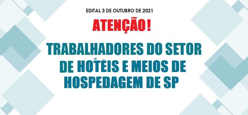 EDITAL PARA TRABALHADORES EM HOTÉIS DE SP